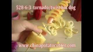 model 528- 6- 3 twist hot dog cheap Tornado Potato Chips new Twisted chips machine