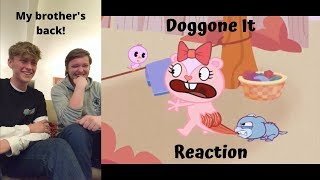 HAPPY TREE FRIENDS - Doggone It Reaction Ft. My Brother!