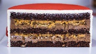 ШОКОЛАДНЫЙ ТОРТ С НАЧИНКОЙ ПРОСТО ВАУ Домашний торт и секретная прослойка Все останутся в восторге