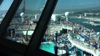 Reversing out of Malaga onboard Adventure Of The Seas