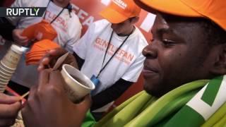 В Ростове-на-Дону — пледы, в Краснодаре — чай: акция Gentlfan перед матчем России с Кот-д