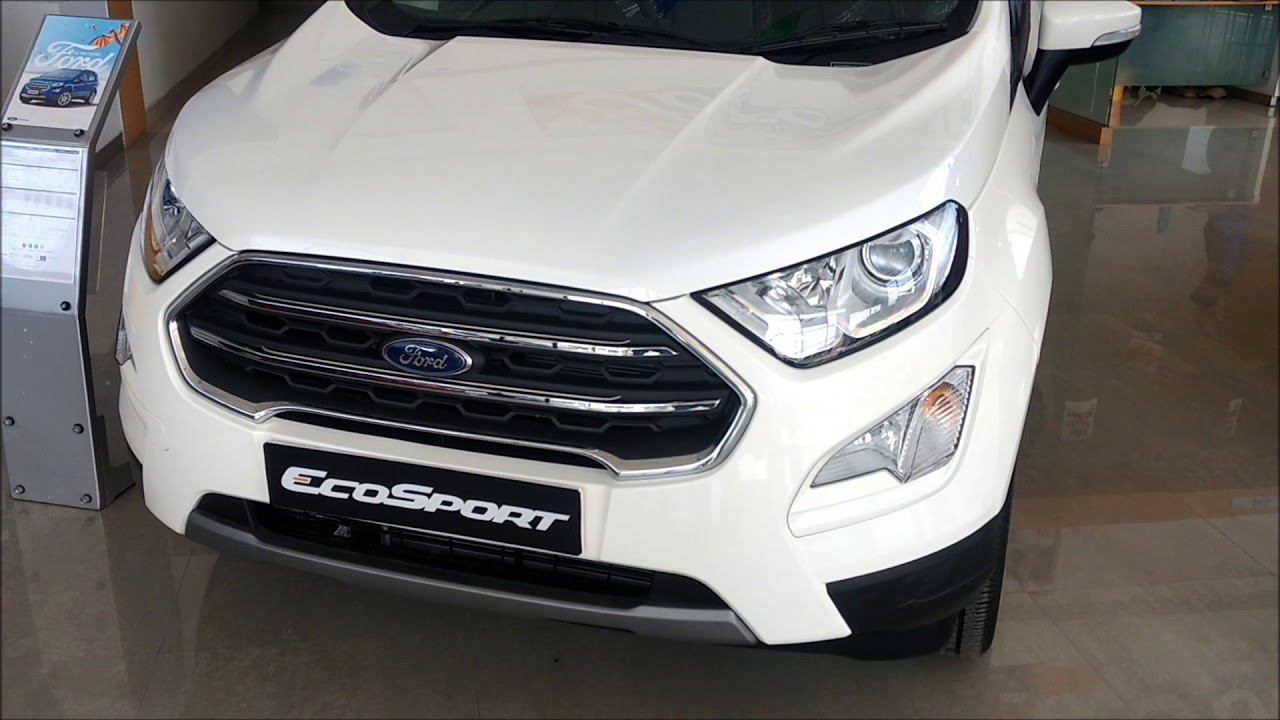 New Ford Ecosport Diamond White Colour Interior And Exterior Walkaround