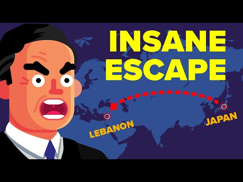 The Insane Escape of Nissan CEO Carlos Ghosn (From Japan To Lebanon)