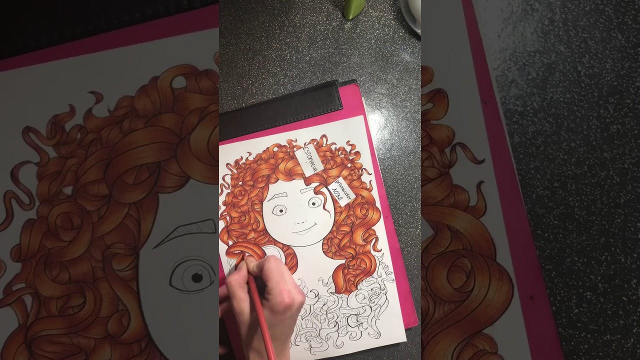 Coloriage Disney Portrait Youtube