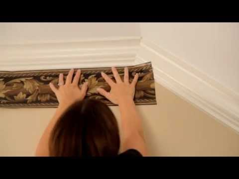 Wallpaper Border Installation; How to transition from a flat ceiling to a vaulted ceiling