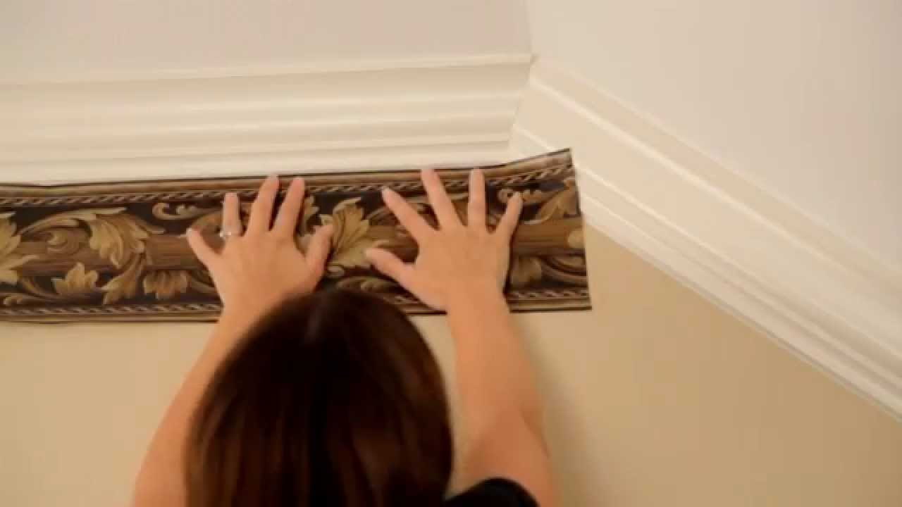 Wallpaper Border Installation; How to transition from a flat ceiling to a vaulted ceiling - YouTube