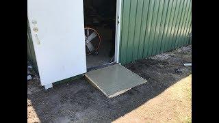 My Concrete Doorway Ramp Project Using Quikrete Crack Resistant Concrete