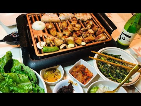 Samgyeopsal at home ( Pork belly )