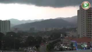 Heavy rain falls at Bayan Lepas Penang