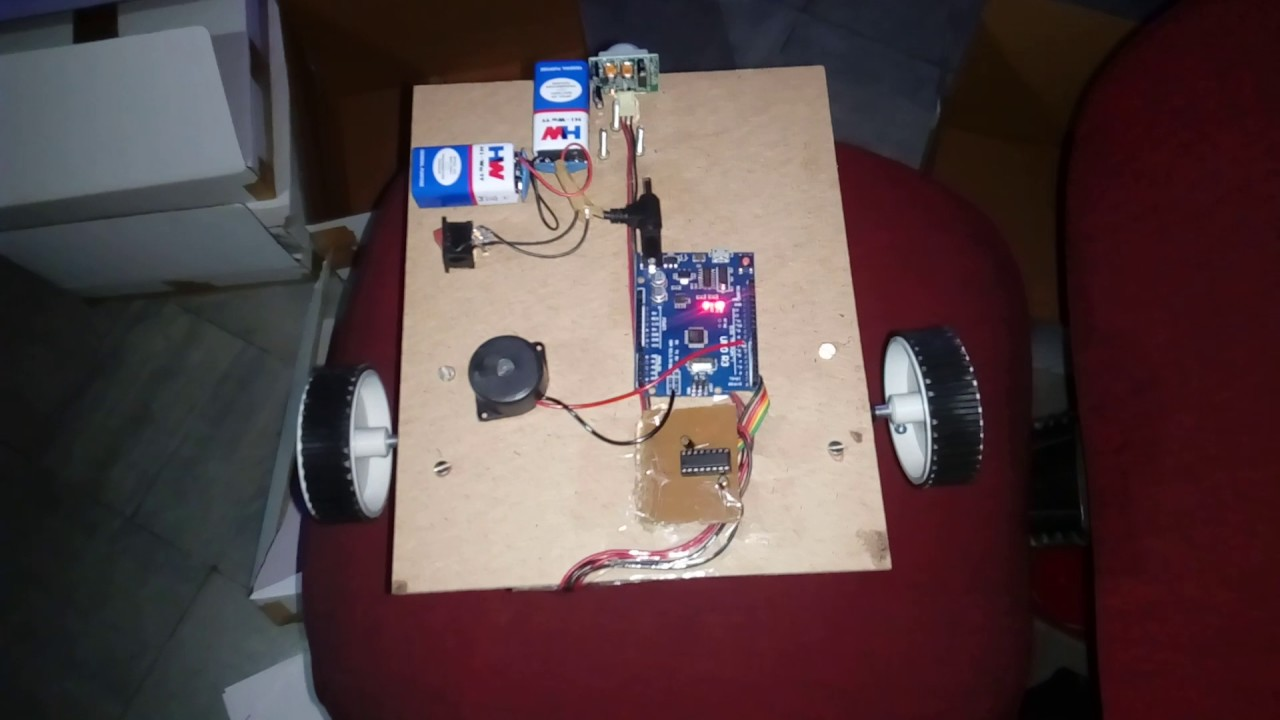 Human Detection Robot Using Pir Sensor Youtube Improved Infrared Detector Circuit
