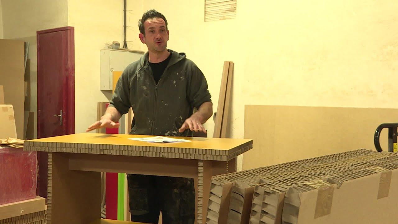 Image De Meuble En Carton cantal : un artisan fabrique des meubles en carton