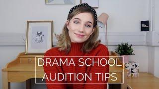 DRAMA SCHOOL AUDITION TIPS | Georgie Ashford