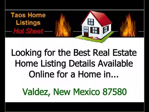 Best Real Estate Home Listing Details Available Online For Valdez, New Mexico NM 87580