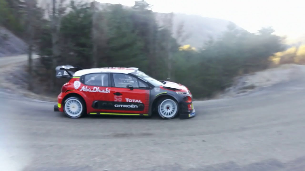 test citro n c3 wrc rallye monte carlo 2019 s bastien ogier hd youtube. Black Bedroom Furniture Sets. Home Design Ideas