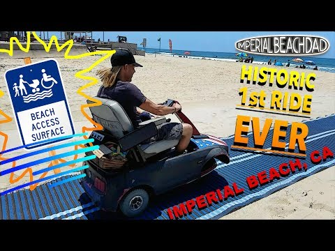 Handicap Beach Access Mat in Imperial Beach, CA!!!  #Historic first test!!!