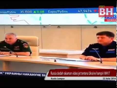 Russia dedah rakaman video jet tentera Ukraine hampiri MH17