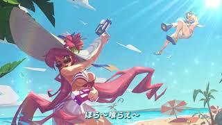 アニメ風5v5対戦スマホMOBA「非人類学園」夏の水着祭PV