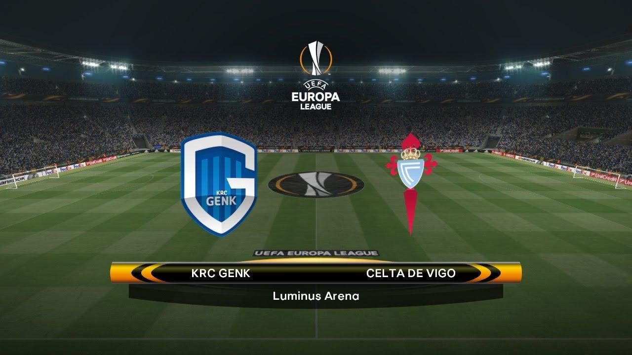 KRC Genk-Celta de Vigo - Uefa Europa League  PES 2017 PTE Patch 5.1  - YouTube