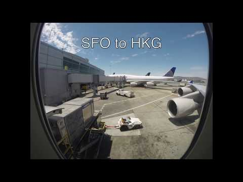 747 San Francisco to Hong Kong in 2 minutes Plane Flight Time Lapse
