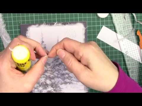 Christmas Cards Using Craft Creations Mulberry And Backing Papers