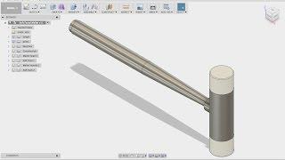 Fusion 360 Öğretici - Yumuşak Yüz Tokmak FF.313