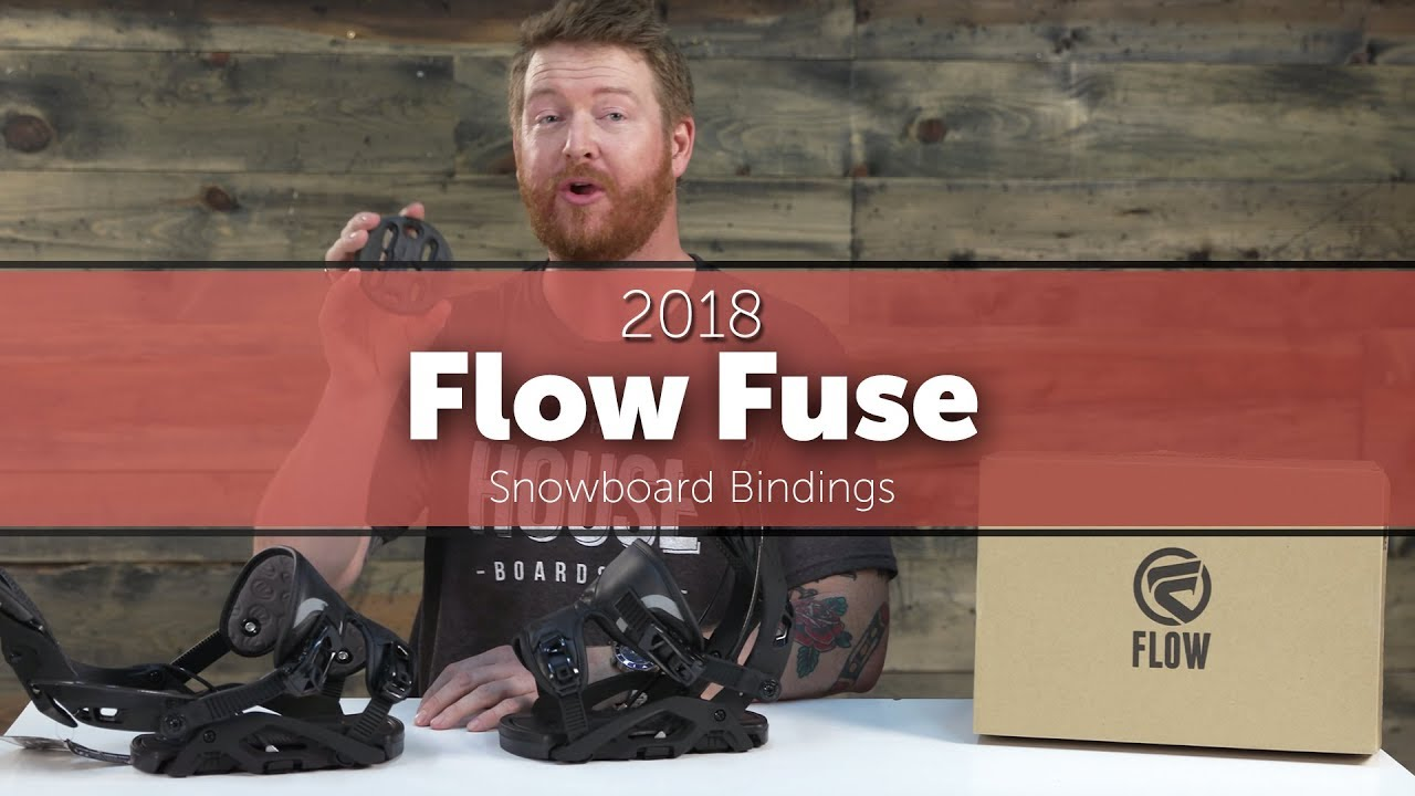 fdcfc13553fc 2018 Flow Fuse Snowboard Bindings - YouTube