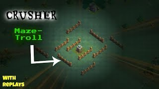Clash Of Clans-Best BH3-CRUSHER Maze Troll Base