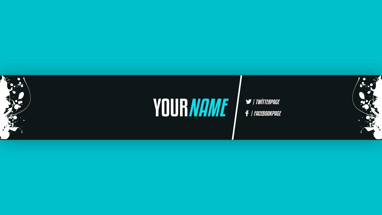 youtube banner template 21 adobe photoshop youtube. Black Bedroom Furniture Sets. Home Design Ideas