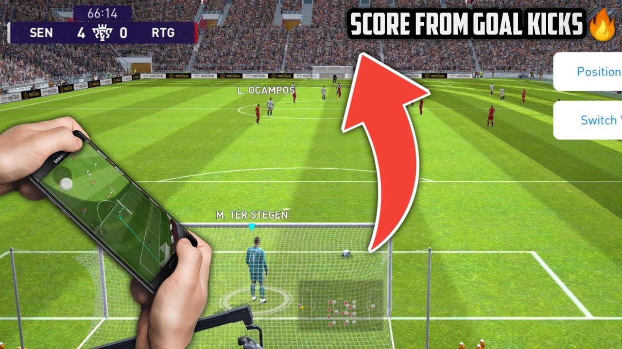 How To Score from Goalkicks by playing Beautiful Football || Best way to score in Online match Pes21