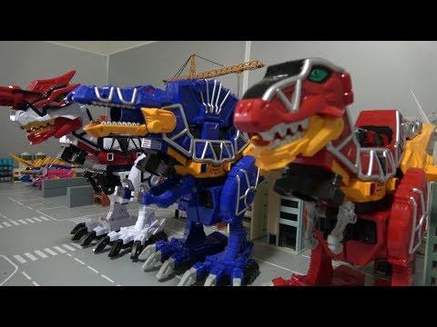 Power Rangers Dino Charge T-Rex Megazord Toys 파워레인저 다이노포스 다이노킹 장난감 변신
