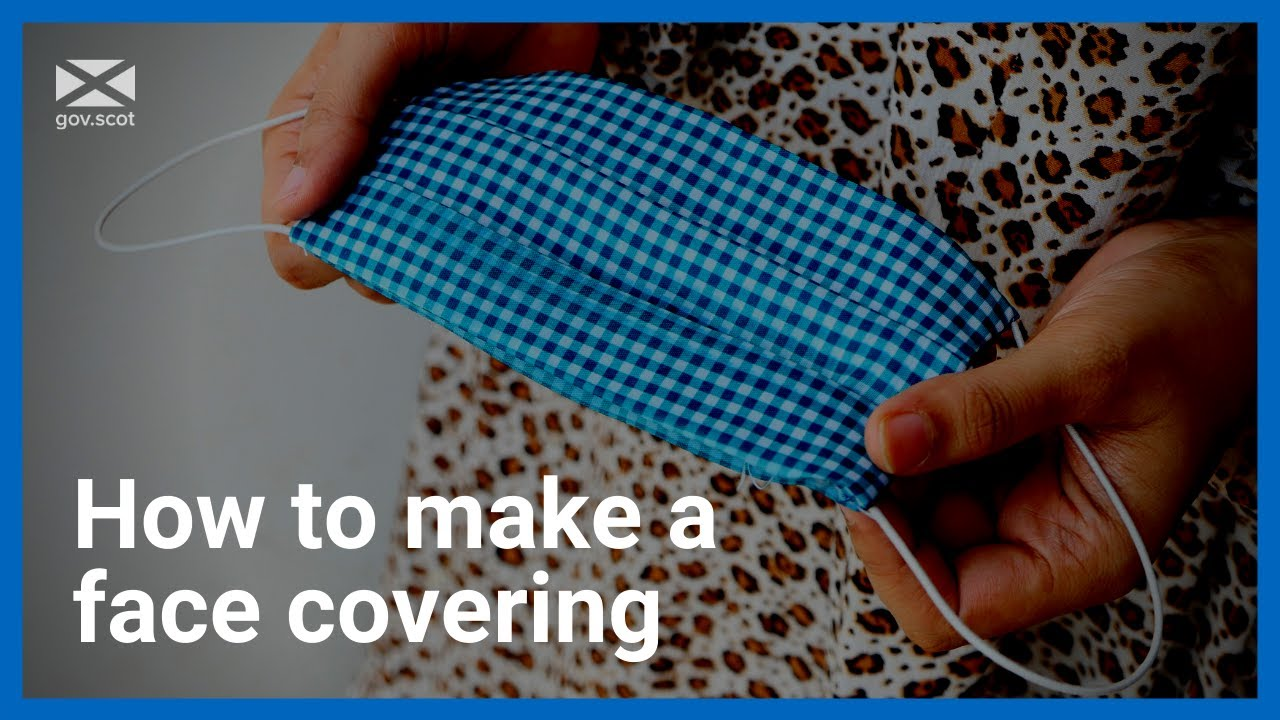 Coronavirus: How to make a face covering