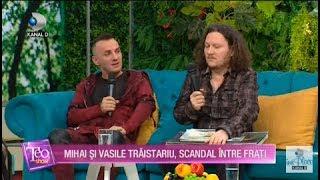 Teo Show - Mihai si Vasile Traistariu, scandal intre frati! Mihai Traistariu, din nou la Eurovision!
