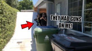 *FOOTAGE* ARMED POLICE BROKE INTO MY HOUSE & ARRESTED ME!