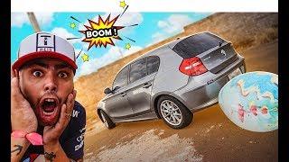 ESTOUREI UM BALÃO GIGANTE NO ESCAPE DA BMW * mega explosão *