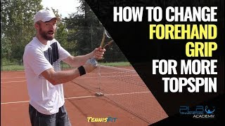 How To Change Tennis Forehand Grip for More Topspin I PLB Tennis Method® - Online Tennis Programs