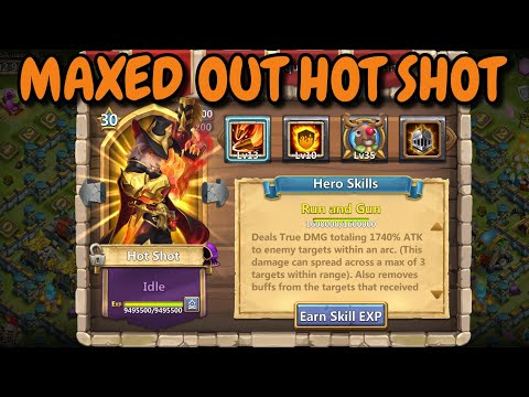 Hot Shot L Maxed Out L 10 Flame Guard L In Action L Castle Clash