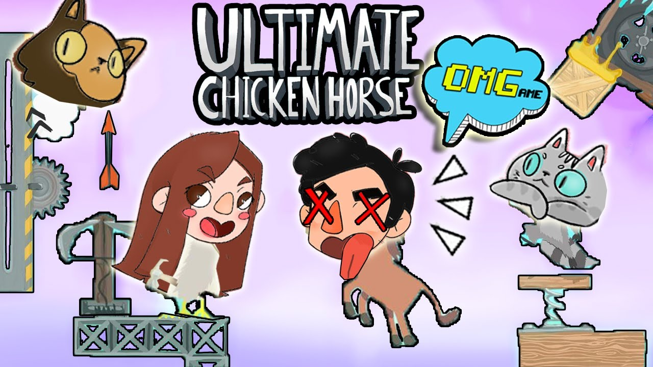 LOS ANIMALES ESTAN LOCOS !!!🐴🐔 OMGame Retos Divertidos ULTIMATE CHICKEN HORSE 2