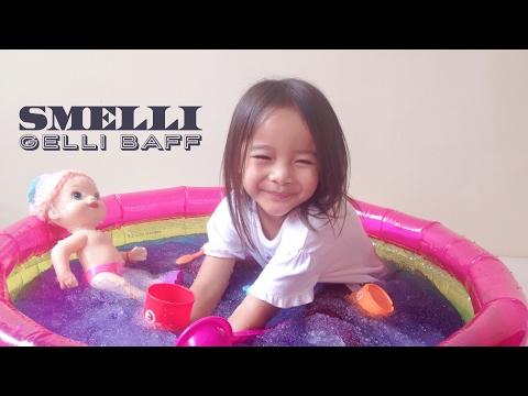 Smelli Gelli Baff ❄️❄️❄️Zara bermain mandi Jeli di Kolam Kecil bersama Baby Alive | Lets Play