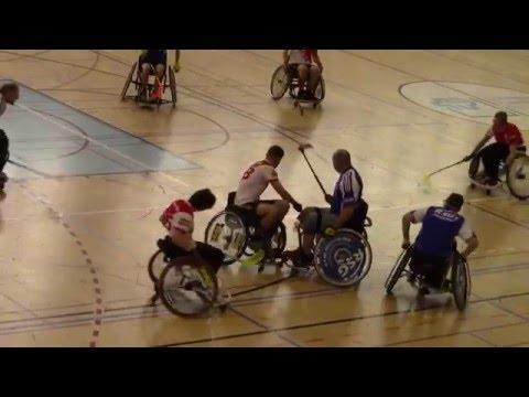 Wheelchair Floorball Swiss Wheely Open 2016, Switzerland - Germany Part1