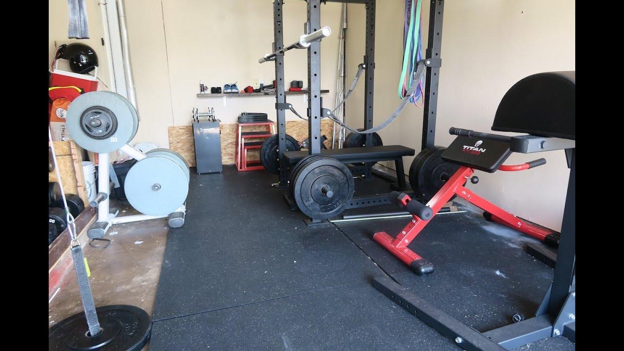Powerlifting garage gym tour the jervis strength dojo youtube