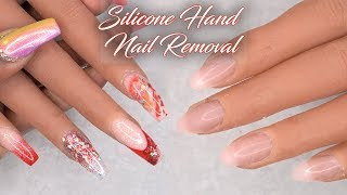 Acrylic Nails Tutorial - How To Remove Acrylic Nails from Silicone Hand and Apply New Nail Tips