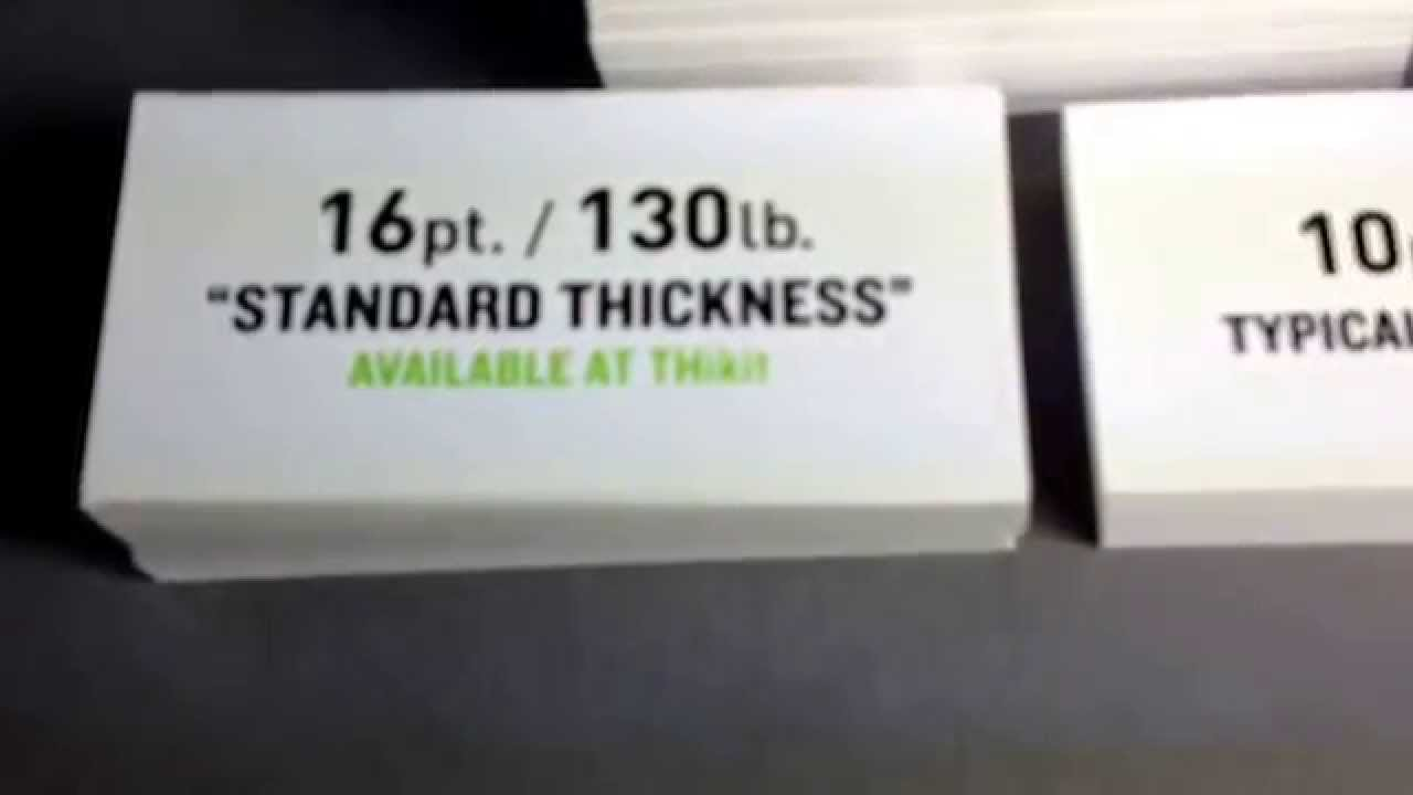 How much Thicker are our Extra-Thick business cards. - YouTube