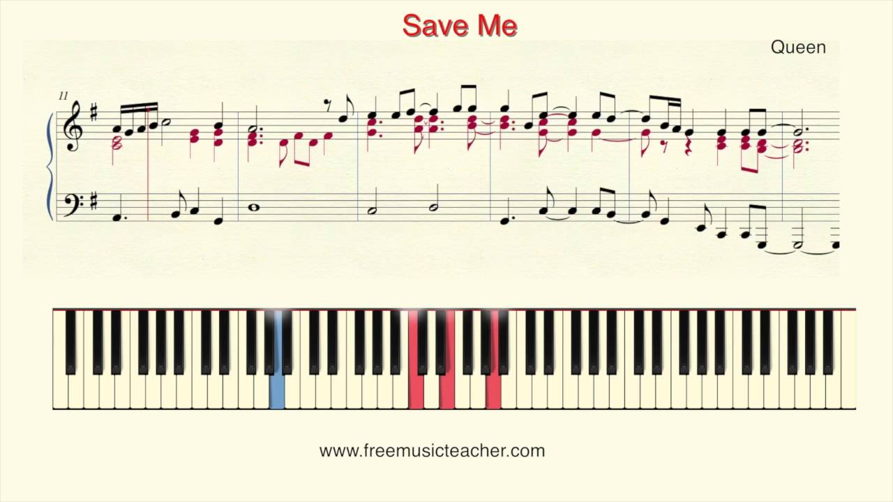 How to play piano queen save me youtube baditri Choice Image