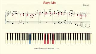 "How To Play Piano: Queen ""Save Me"""