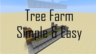 Simple Minecraft Tree Farm