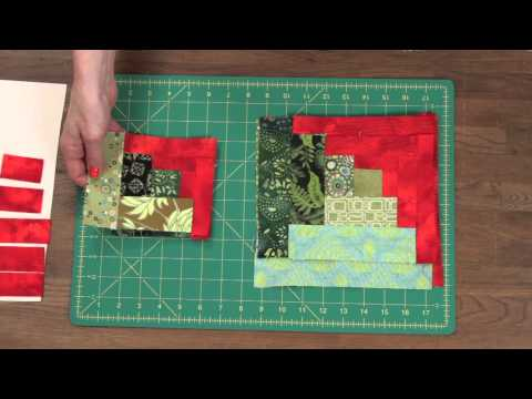 Quilty How To Make A Curved Log Cabin Quilt Block Youtube
