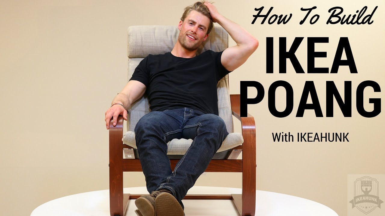 How To Assemble Ikea Poang Chair Youtube
