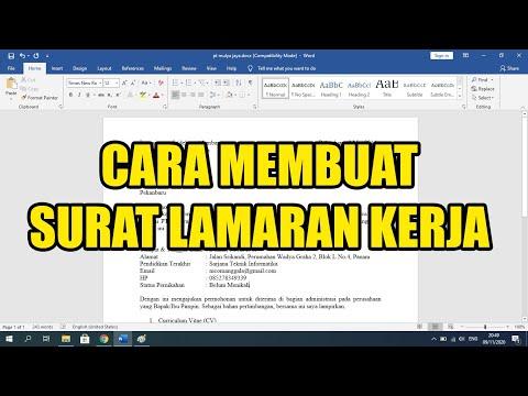 Tutorial cara membuat surat lamaran kerja pada aplikasi Microsoft Office Word