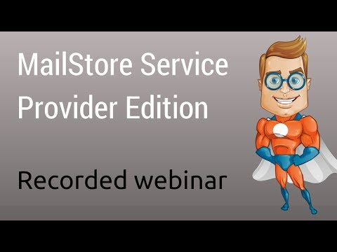 MailStore Service Provider Edition: Email Archiving for MSP's - Technical Overview