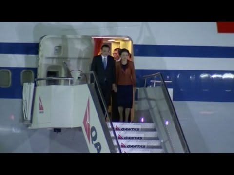 Chinese Premier Li Keqiang arrives in Canberra for Australia visit